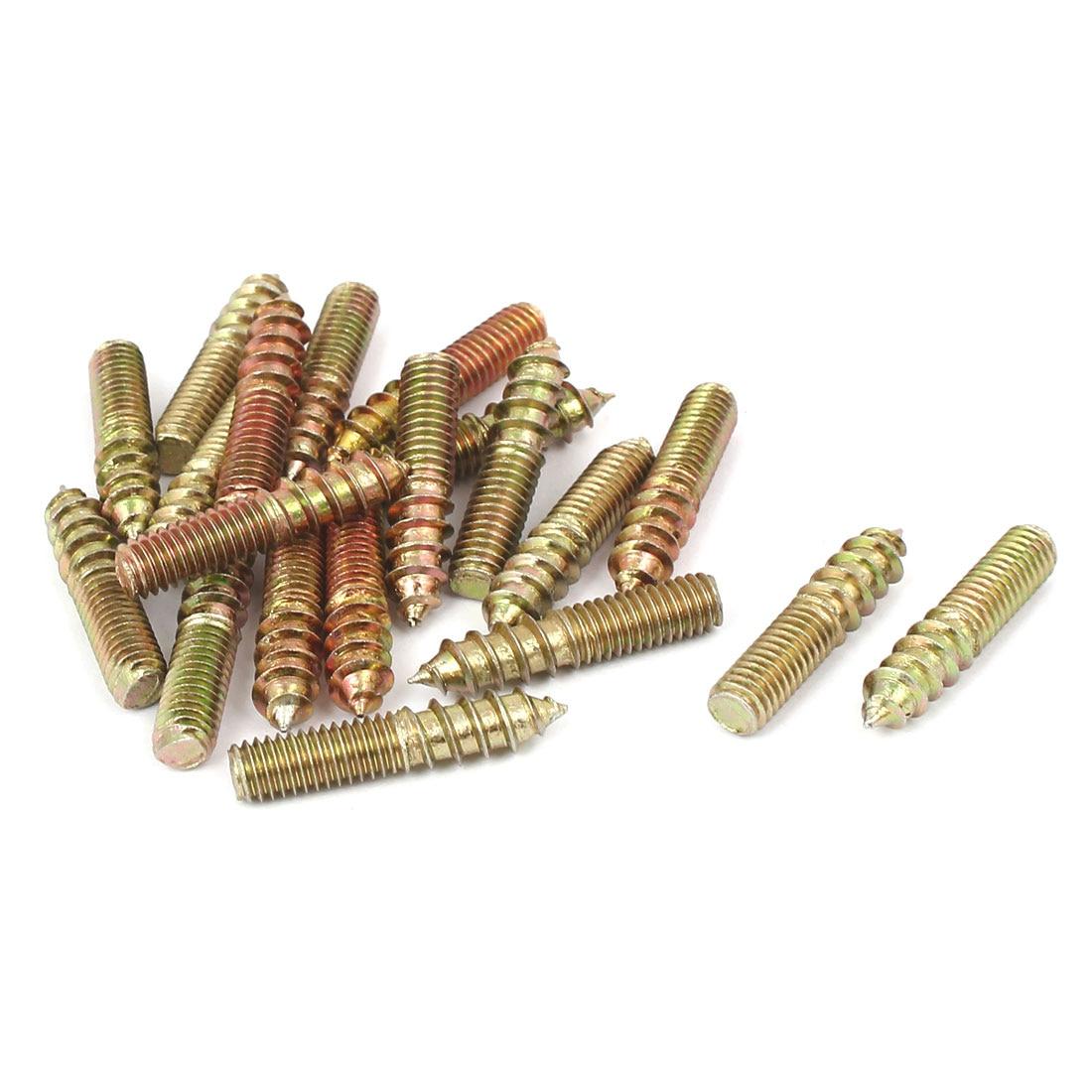 uxcell 20 Pcs 15//64 Inch X 15//32 Inch Flat Head Copper Tone Solid Rivets Fasteners