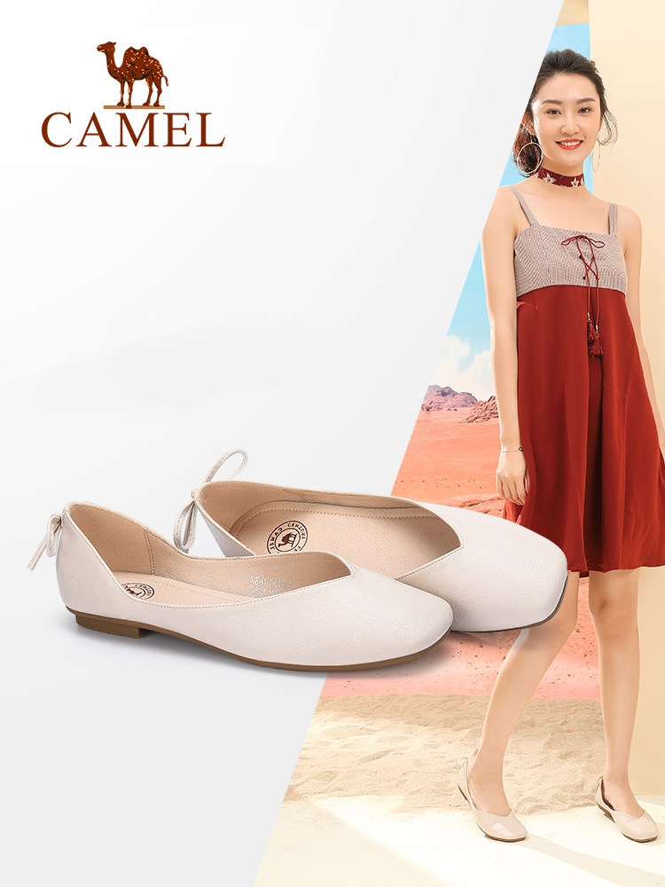 CAMEL Women Casual Ballet Shallow Single Shoes Ladies Flat Squre Toe Slip On Fashion New Pu Shoes Female Spring and Autumn New women flat shoes new spring female casual women shoes slip on flat leisure bowtie bowknot ladies trend fashion shoes size 35 39