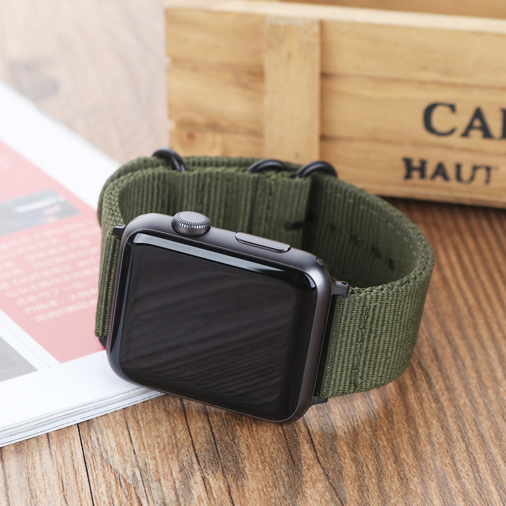 MU SEN Woven Nylon band strap for apple watch band 42mm 38 mm sport fabric nylon bracelet watchband for iwatch 3/2/1 black андроид