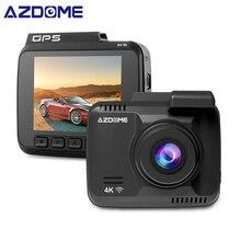 AZDOME GS63H Car Dash Cam 4 k 2160 p del Precipitare Della Macchina Fotografica Doppia Lente Costruito in GPS DVR Recorder Dashcam Con wiFi G-Sensor Registrazione del Ciclo