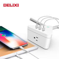 DELIXI US smart power strip wifi remote control with 3 multiple Outlets Surge Protector plug 3 USB ports for Amazon alexa/google