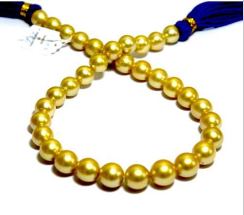 AAA 10-11mm naturel mers du sud collier de perles en or rond 18 pouces>>> filles collier ras du cou pendentif livraison gratuite