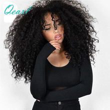 High Density 200% Kinky Curly Lace Front Human Hair Wigs with Baby Hair for Women Brazilian Remy Hair Wig 13*4 PrPlucked Qearl