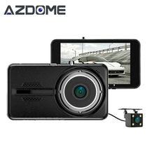 Azdome Y900 Двойной объектив Видеорегистраторы для автомобилей регистраторы NTK96658 видео Регистраторы 4.0 дюймов IPS Full HD 1080 P 30fps H.264 G- Датчик двух камер H30