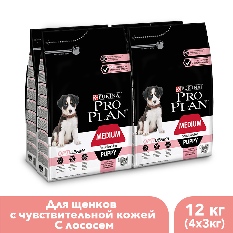 Dry food Pro Plan for puppies of medium breeds with sensitive skin with OPTIDERMA complex with salmon and rice, 12 kg. mk8 aluminum extruder kit with nema 17 stepper motor 1 75mm for 3d printer reprap prusa i3