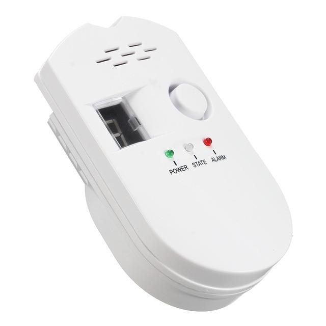 NEW Safurance 1Pcs High Sensitivity LPG Coal Natural Gas Leak Security Alarm Sensor Warning Detector Tester US Plug