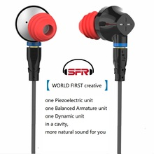 new technology 2019 SENFER DT6 In Ear Earphone Earburd Piezoelectric Armature Dynamic for Sennheiser ie80 ie800 cable headset UE