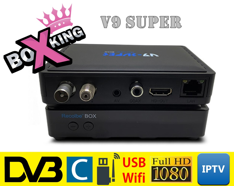 Recolbe v9 super linux cable tv box support all sta hub channels