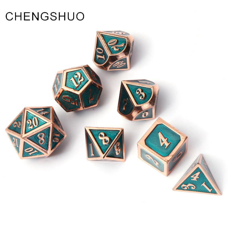 Chengshuo dnd dice metal rpg set polyhedral dungeons dragon d20 10 6 8 12 blue table games Zinc alloy green digital dice patternChengshuo dnd dice metal rpg set polyhedral dungeons dragon d20 10 6 8 12 blue table games Zinc alloy green digital dice pattern