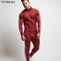 2018 New Fashion Spring Autumn Men Sporting Suit GYMS Hoodies and Pant Sweatsuit Two Piece Set Tracksuit Set For Men Clothing