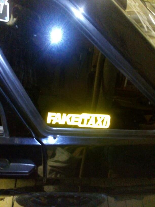 Car Sticker JDM Drift Turbo Hoon Race Car FAKE TAXI Funny Sticker Decal x2