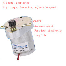 Permanent magnet DC ordinary gear motor ZS-RE Duck egg 12V24V all metal