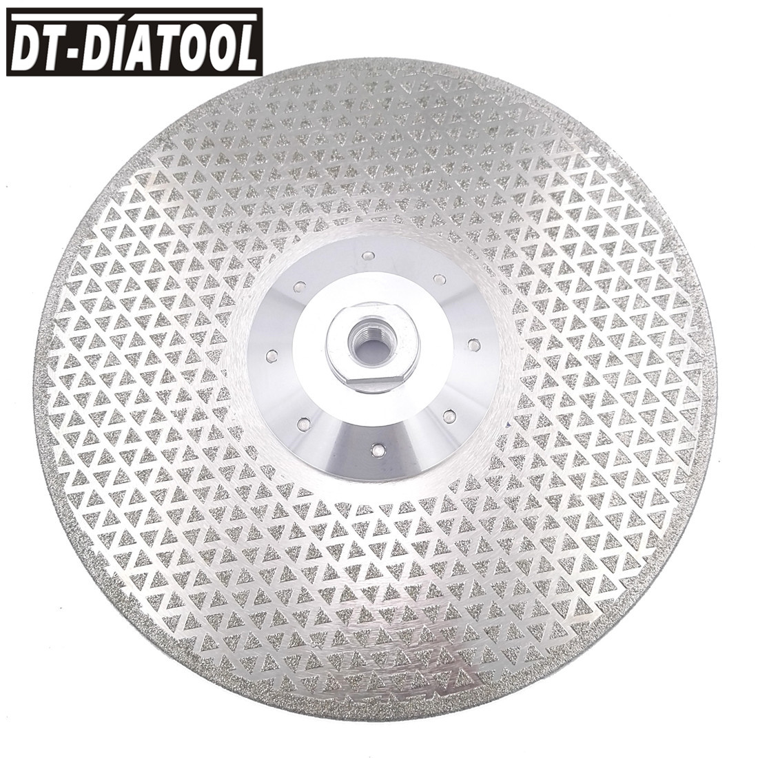 """DT DIATOOL 2pcs 9""""/230mm Electroplated Diamond Cutting Saw Blade Grinding Disc Double Sides M14 Flange for Cutting Marble Tile-in Saw Blades from Tools    3"""