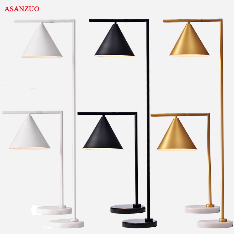 American Retro Bedroom Table Lamp Creativity Iron Study Desk Decoration Light Fixtures for Living Room Gold/Black Floor LampAmerican Retro Bedroom Table Lamp Creativity Iron Study Desk Decoration Light Fixtures for Living Room Gold/Black Floor Lamp