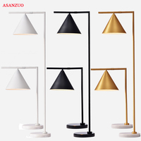 American Retro Bedroom Table Lamp Creativity Iron Study Desk Decoration Light Fixtures for Living Room Gold/Black Floor Lamp