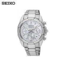 Наручные часы Seiko SRW807P1 женские с кварцевым хронографом на браслете