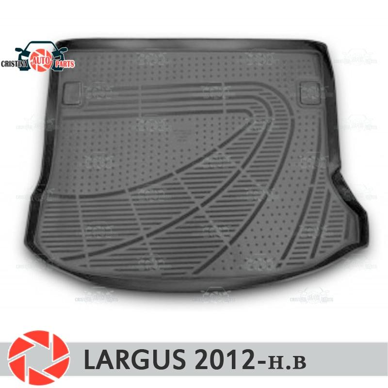 Para Lada Largus 2012-2018 mat tronco tapetes do assoalho antiderrapante poliuretano proteção sujeira interior tronco car styling