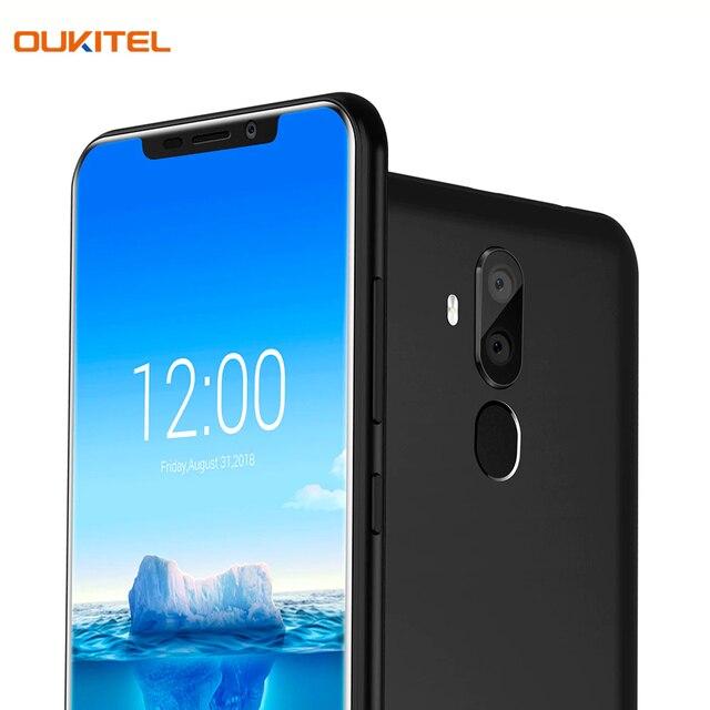 Смартфон OUKITEL C12PlusBlack отличная двойная камера 8+2Мп, сканер отпечатка пальца и функция распознавания лица - Face ID Unlock