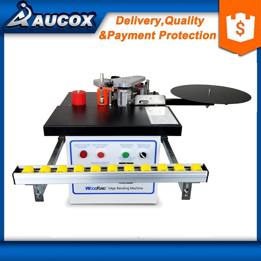 Original MY07 wood portable edge banding machine for MDF further with tray and cut for edge