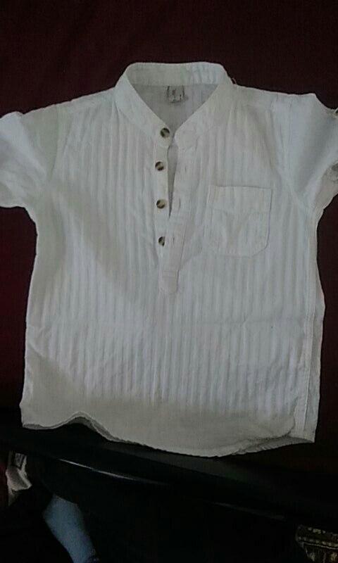 Camisas Crianças Roupas Branca