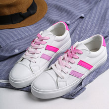 Купить с кэшбэком GOGC Women Sneakers Flat Shoes Women Fashion Sneaker 2019 White Sneakers Women Breathable Leather Shoes Woman Brand Luxury