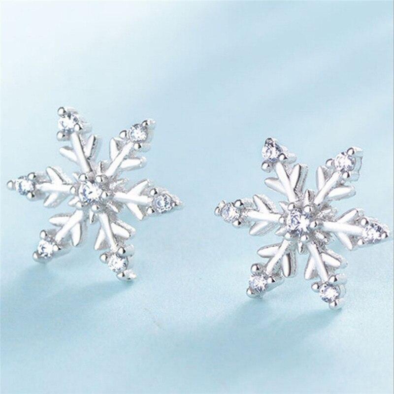 New Fashion Crystal Earring New Earring Cute Snowflake Earris