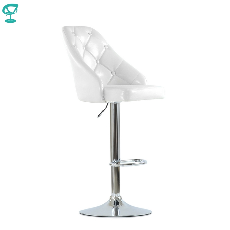 N94CrSPuWhite Barneo N-94 PU Leather Kitchen Breakfast Bar Stool Swivel Bar Chair White Color Free Shipping In Russia