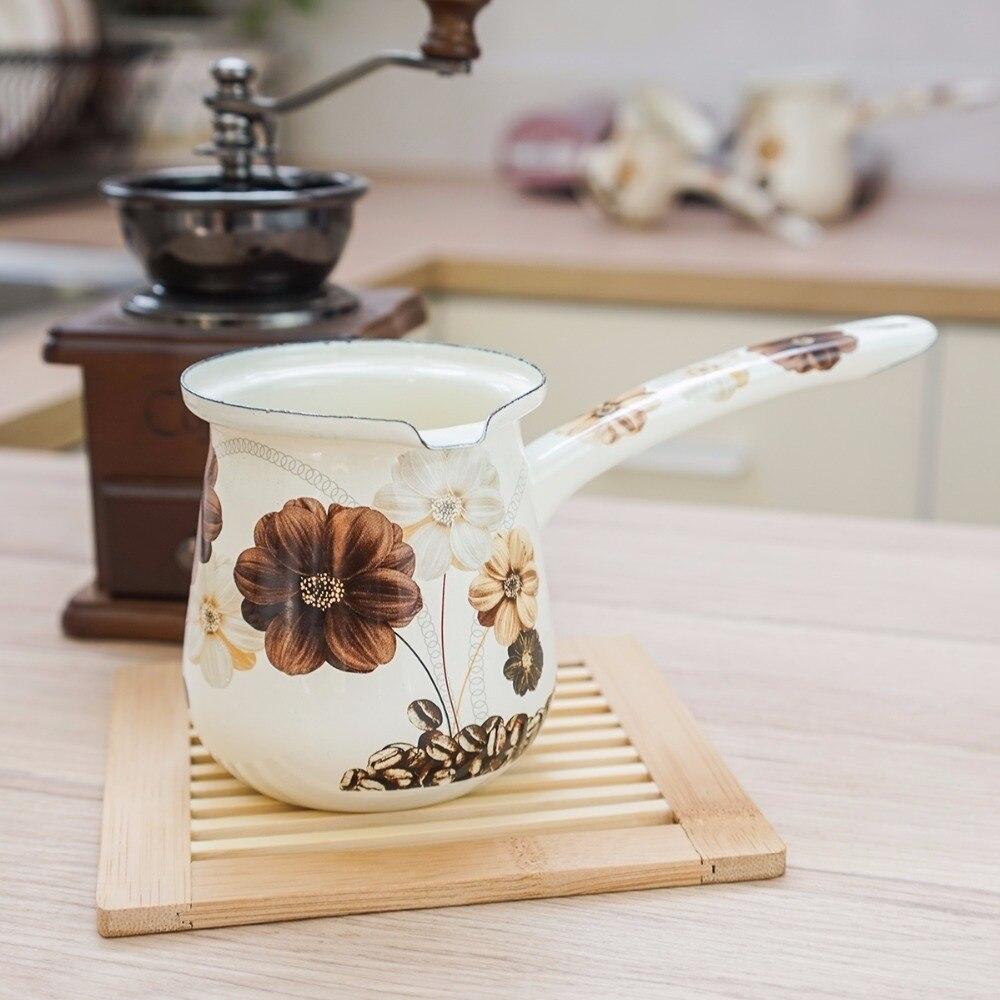 Ev ve Bahçe'ten Fondü Kapları'de MIni porselen emaye eriyik tereyağı tek kolu süt tenceresi kahve fincanı bebek gıda şehriye lapası pan kahve makinesi cezve