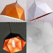 Nordic wrought iron Macarons Pendant Lights single-headed polygonal diamond E27 personalized restaurant home lighting