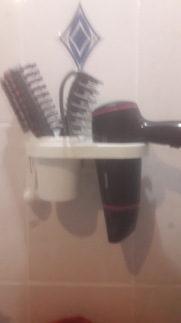 Bathroom Hair Dryer Storage Racks Non-trace Stick Wall Mounted Holder Accessories Supplies Products Gear Items Stuff Case