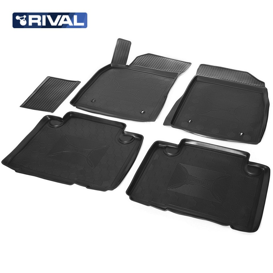 2c8b3759c For Geely Emgrand X7 2013-2019 floor mats into saloon 5 pcs/set Rival  11902001