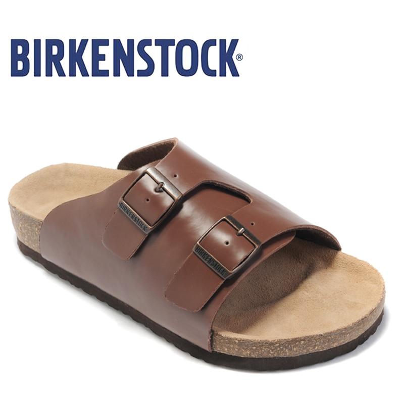 2018 Yeni Varış BIRKENSTOCK Unisex yaz düz ayakkabı moda Sandalet - Erkek Ayakkabıları