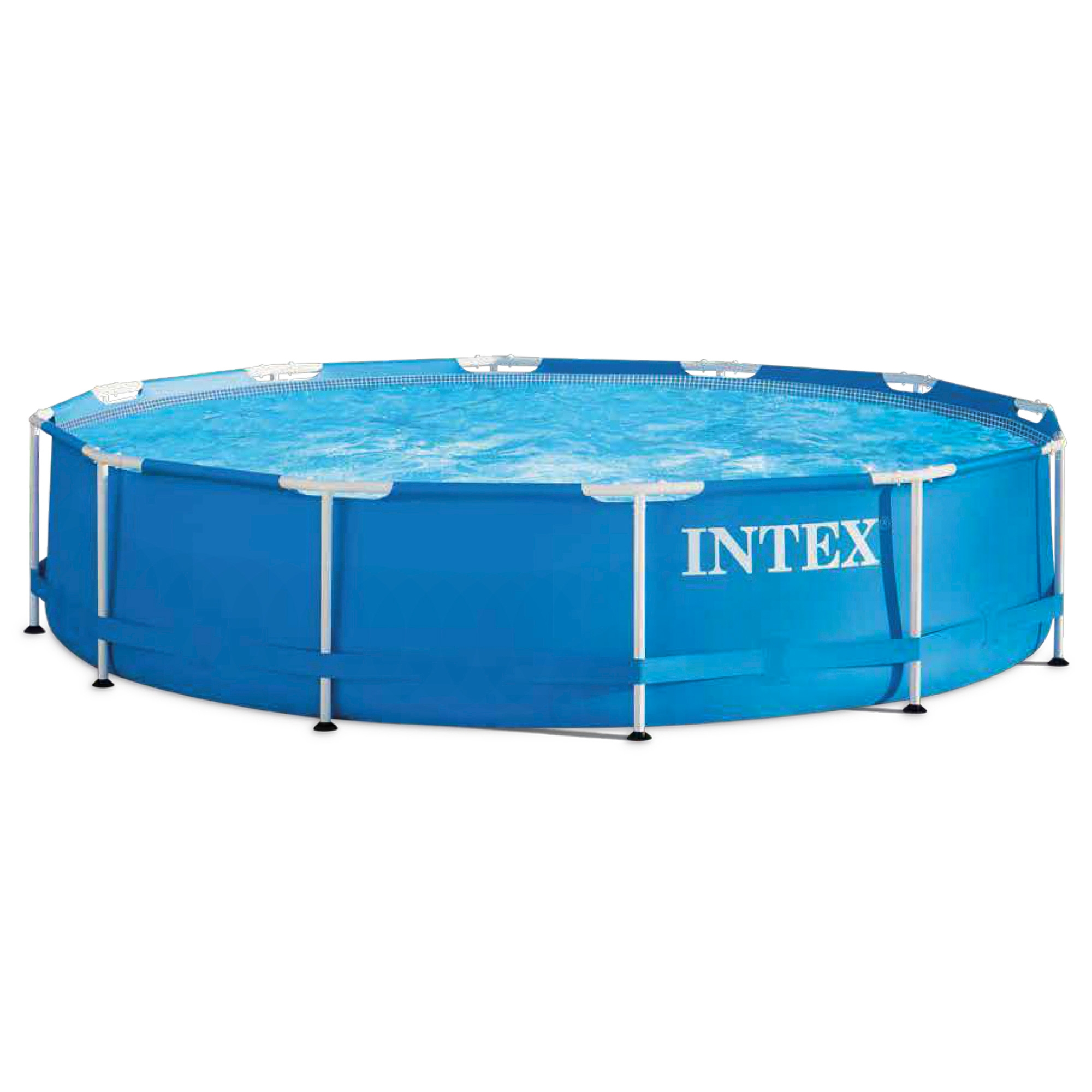 Scaffold Round Pool For Garden Summer Leisure Outdoor Size 366 х76 Cm, 6503 L, Intex Metal Frame, Item No. 28210np