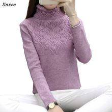 Xnxee 2018 new winter women's head sweater female head sleeve slim turtleneck sweater Blouse Shirt цены