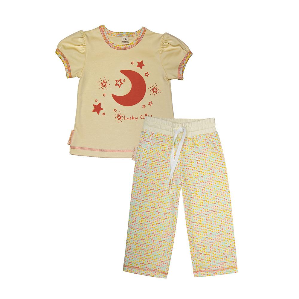 Pajama Sets Lucky Child for girls 12-402 (3T-8T) Children clothes kids clothes spring clothes new pattern girl korean trend fashion leisure time letter girl child cowboy 2 pieces kids clothing suits sets