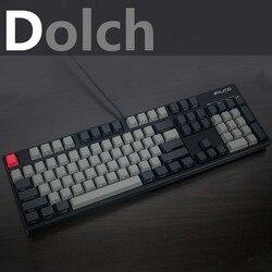멋진 재즈 블랙 회색 혼합 Dolch 두꺼운 PBT 104 87 68 61 키보드 OEM 프로필 키 캡 MX 기계식 키보드 무료 배송