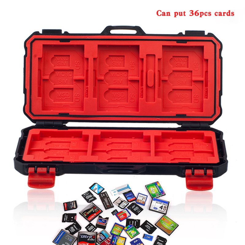 Memory Card Case Holder store card box for XQD SD CF MSD SIM NANO cards Waterproof Anti-shock Storage CASE For sony gopro camera