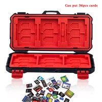 Titulaire Cas de Carte mémoire magasin carte boîte pour XQD SD CF MSD SIM NANO cartes Étanche Anti-choc CAS De Stockage Pour sony gopro caméra