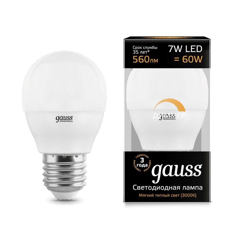 Lampe à LED ampoule boule diode dimmable E14 E27 G45 7 W 3000 K 4000 K lumière froide neutre chaude Gauss Lampada lampe ampoule globe - 4