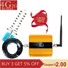 лучшая цена gsm repeater 1800 2g 4G Cellular Amplifier LTE DCS 1800mhz 4G Moblie Signal Booster 68dB Gain 4G Network Booster 4g Antenna