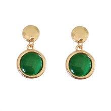 Simple geometric circular mini elegant small stud earrings style restoring ancient ways Joker ear