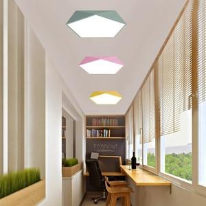 Image 5 - Macaron Pentagonal ceiling lights Acrylic LED Lamp Modern Living Room Bedroom Restaurant Kids Room Nordic Home Lighting Fixture