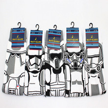 Comics Star Wars storm troops Socks white Jedi Knight Street Cartoon Men s Unisex sock Party