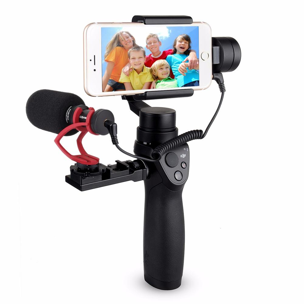 Comica CVM-VM10 II Cardioid Directional Shotgun Video Microphone for DJI OSMO Mobile Plus Smartphone GoPro Micro Camera Mount