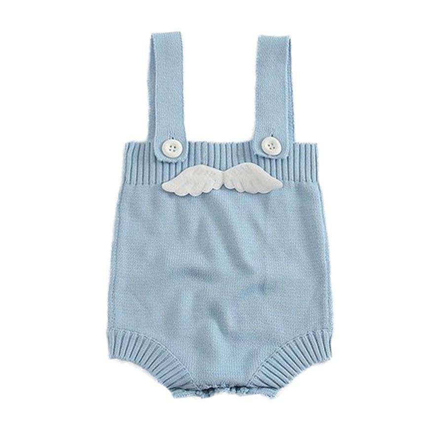 Pasgeboren gebreide babybody met engelenvleugel Ontwerp katoenen - Babykleding - Foto 1
