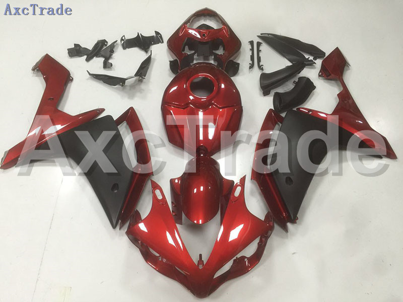 Motorcycle Fairings Kits For Yamaha YZF1000 YZF 1000 R1 YZF-R1 2007 2008 07 08 ABS Injection Fairing Bodywork Kit Red Black B58 hot sales for yamaha yzf r1 2007 2008 accessories yzf r1 07 08 yzf1000 black aftermarket sportbike fairing injection molding