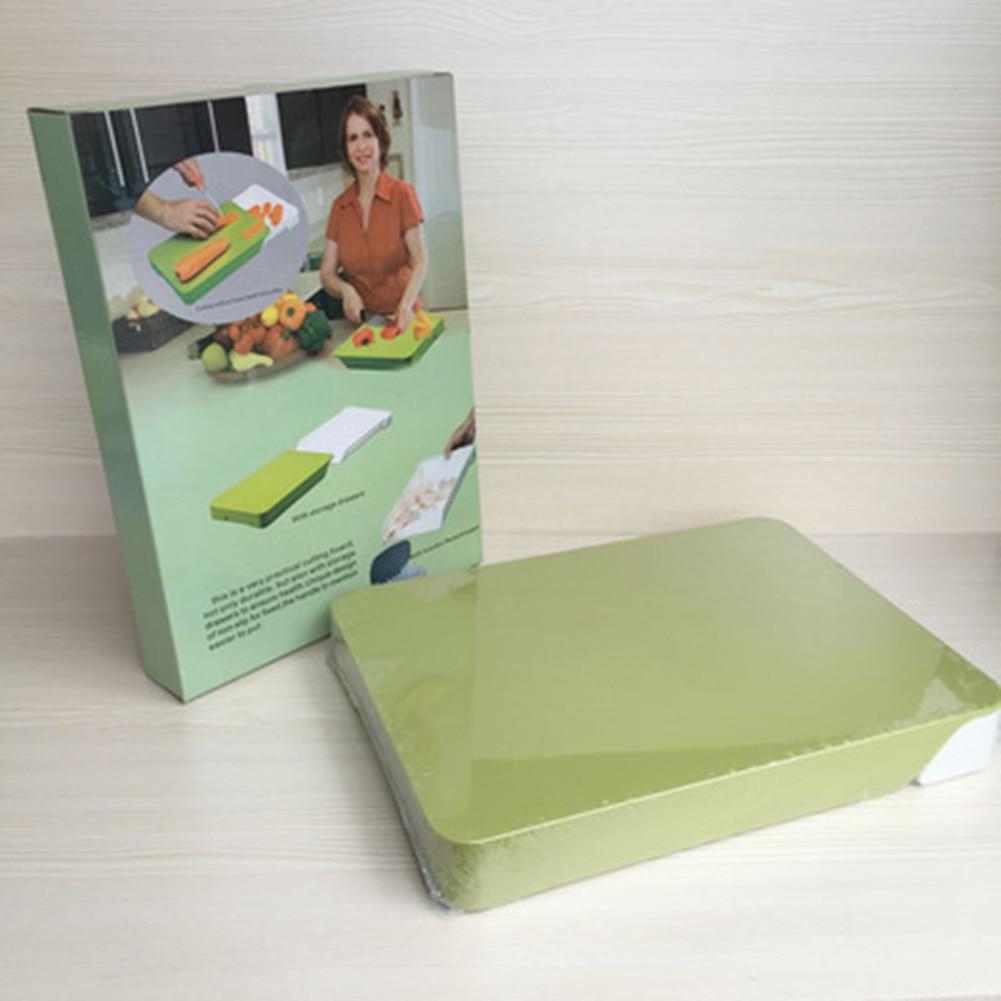 New Multifunctional Cutting Board Drawer Storage Chopping Block Storage Plastic Cutting Board Kitchen Utensils