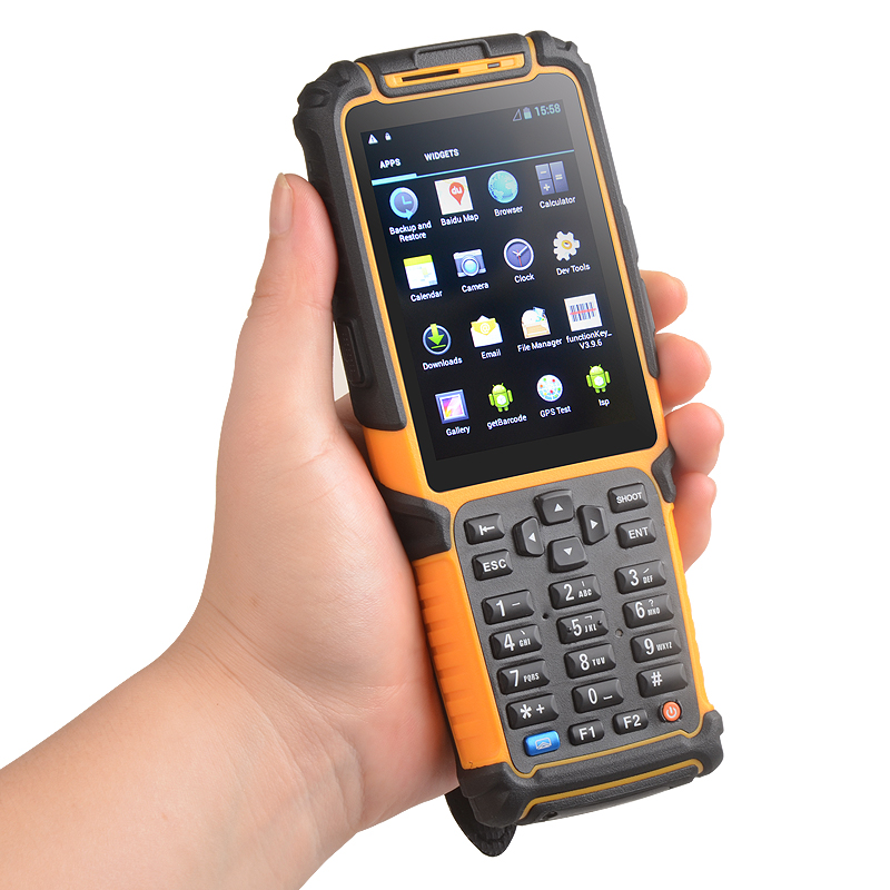 TS-901 Handheld Logistic Rugged Android Courier Data collector Laser Barcode Scanner RFID Reader Camera PDA(China)