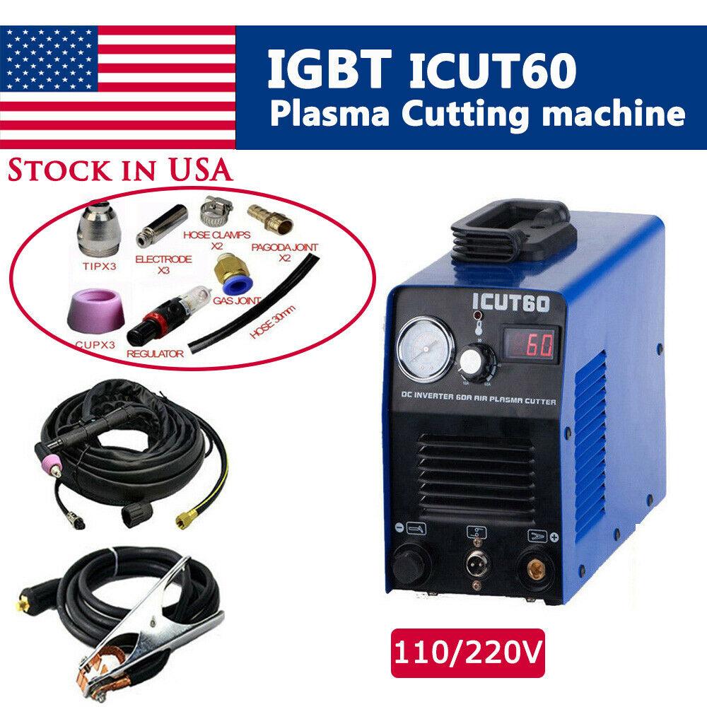 ICUT60 Air Plasma Cutter Cutting Machine Combination Sales 110/220V IN USICUT60 Air Plasma Cutter Cutting Machine Combination Sales 110/220V IN US