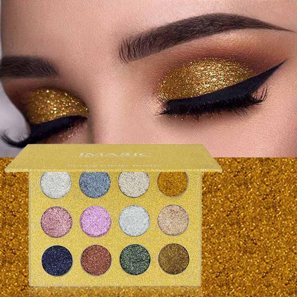 Glitter Powder Makeup Palette Long Lasting&shimmer Eyeshadow Palette Eyes Makeup Glitter Highly Pigmented Glitter Eye Shadow